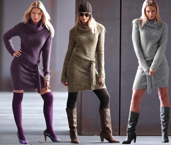 Последнее время стало очень модно носить зимние платья. 2011 год