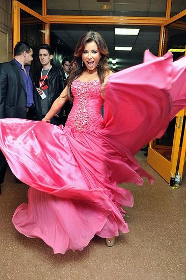 Платье ани лорак розовое