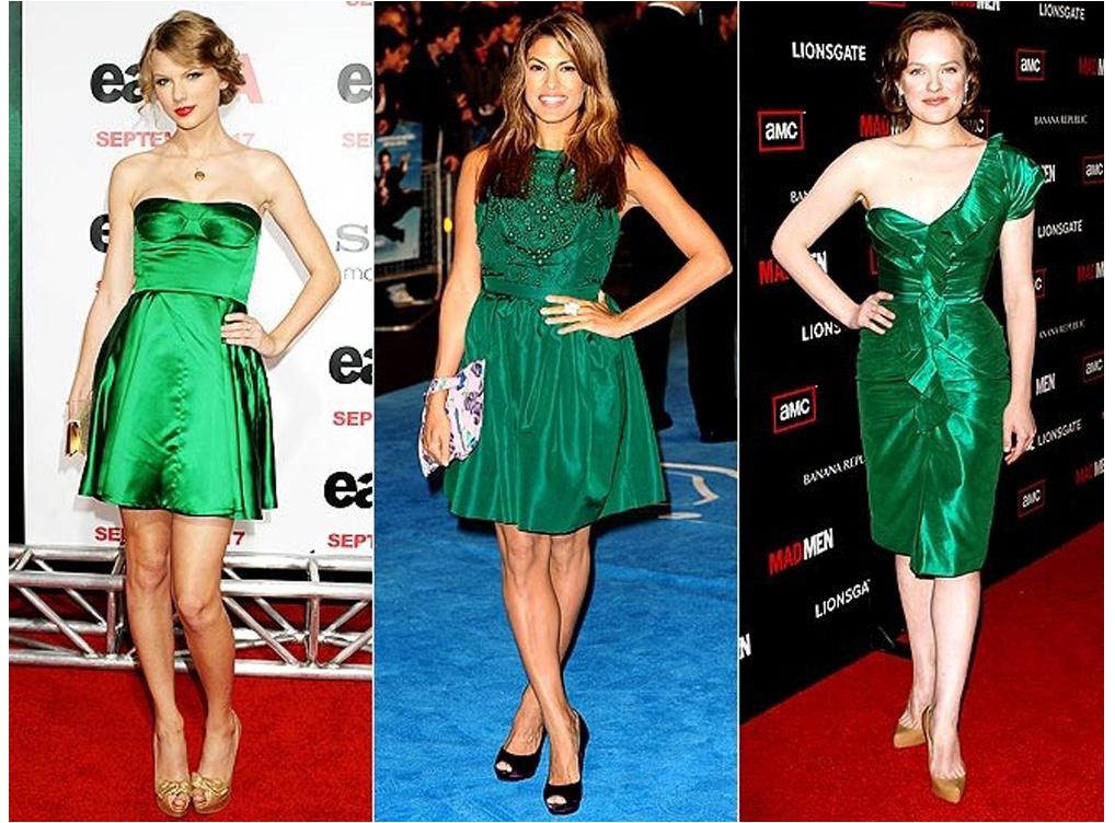 Чем дополнить зеленое платье
